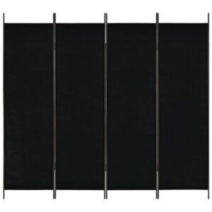 Divisória de quarto com 4 painéis 200x180 cm preto - PORTES GRÁTIS