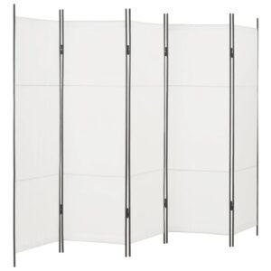 Divisória de quarto com 5 painéis 250x180 cm branco - PORTES GRÁTIS