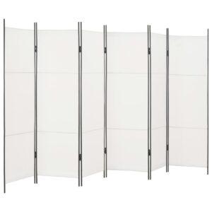 Divisória de quarto com 6 painéis 300x180 cm branco - PORTES GRÁTIS