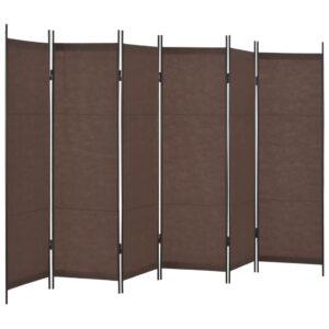 Divisória de quarto com 6 painéis 300x180 cm castanho - PORTES GRÁTIS