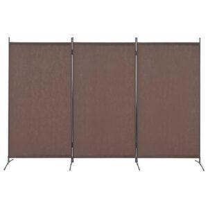 Divisória de quarto com 3 painéis 260x180 cm castanho - PORTES GRÁTIS
