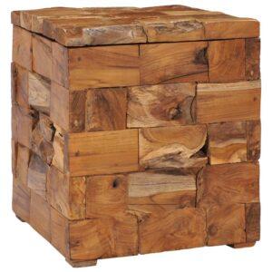 Banco de arrumação madeira de teca maciça - PORTES GRÁTIS
