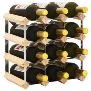 Garrafeira para 12 garrafas madeira de pinho maciça - PORTES GRÁTIS