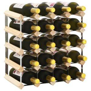 Garrafeira para 20 garrafas madeira de pinho maciça - PORTES GRÁTIS