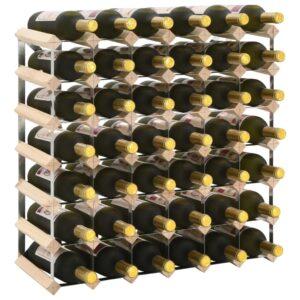 Garrafeira para 42 garrafas madeira de pinho maciça - PORTES GRÁTIS