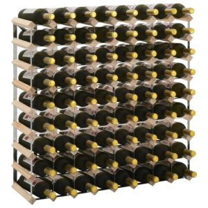 Garrafeira para 72 garrafas madeira de pinho maciça - PORTES GRÁTIS