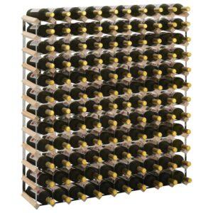 Garrafeira para 120 garrafas madeira de pinho maciça - PORTES GRÁTIS