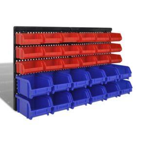 Kit prateleira de armazenamento de Parede 30 pç - PORTES GRÁTIS