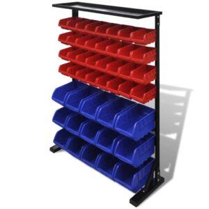 Organizador de Ferramentas Azul & Vermelho para Garagem  - PORTES GRÁTIS