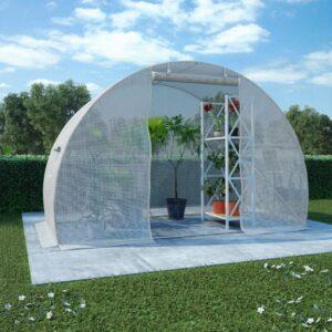 Estufa com fundação em aço 4,5m² 300x150x200 cm - PORTES GRÁTIS