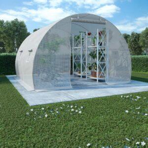 Estufa com fundação em aço 9 m² 300x300x200 cm - PORTES GRÁTIS