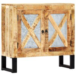 Aparador 80x30x76 cm madeira de mangueira maciça - PORTES GRÁTIS