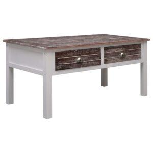 Mesa de centro 100x50x45 cm madeira castanho - PORTES GRÁTIS