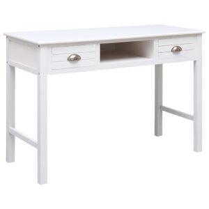 Secretária 110x45x76 cm madeira branco - PORTES GRÁTIS