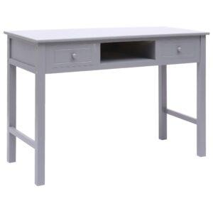 Secretária 110x45x76 cm madeira cinzento - PORTES GRÁTIS