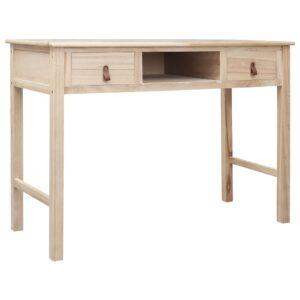 Secretária 110x45x76 cm madeira natural - PORTES GRÁTIS