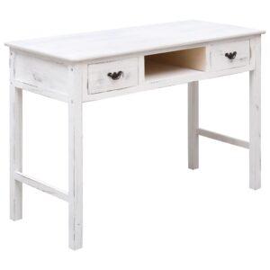 Mesa consola 110x45x76 cm madeira branco antigo - PORTES GRÁTIS