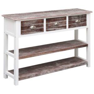 Aparador estilo antigo 115x30x76 cm madeira castanho - PORTES GRÁTIS