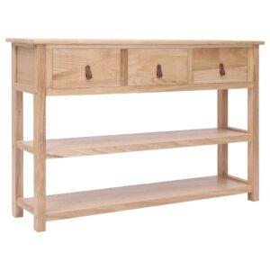 Aparador 115x30x76 cm madeira natural - PORTES GRÁTIS