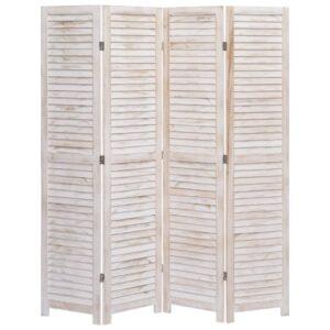 Biombo com 4 painéis 140x165 cm madeira - PORTES GRÁTIS