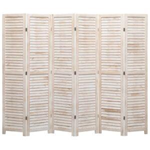 Biombo com 6 painéis 210x165 cm madeira - PORTES GRÁTIS