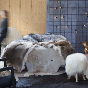Tapete em pele de vaca genuína 150x170 cm castanho e branco - PORTES GRÁTIS