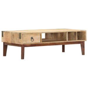 Mesa de centro 110x55x40 cm madeira de mangueira maciça - PORTES GRÁTIS