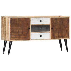 Aparador 118x30x62 cm madeira de mangueira maciça - PORTES GRÁTIS