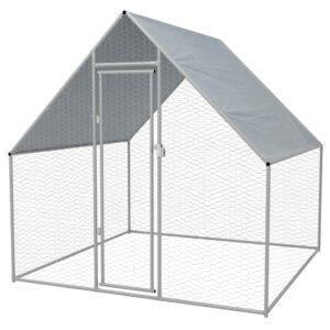 Galinheiro exterior em aço galvanizado 2x2x2 m   - PORTES GRÁTIS