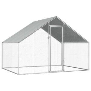 Galinheiro exterior em aço galvanizado 2,75x2x2 m - PORTES GRÁTIS