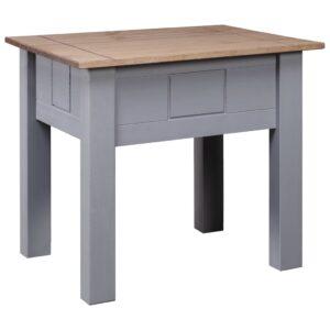 Mesa de cabeceira 50,5x50,5x52,5 cm pinho Panama cinzento - PORTES GRÁTIS