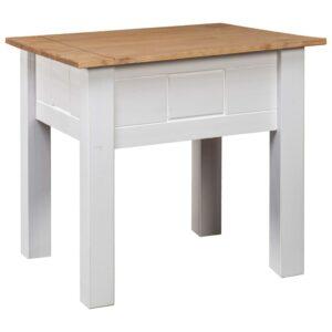 Mesa de cabeceira 50,5x50,5x52,5 cm pinho Panama branco - PORTES GRÁTIS