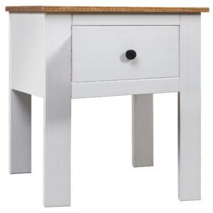 Mesa de cabeceira 46x40x57 cm pinho Panama branco - PORTES GRÁTIS
