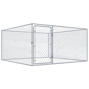 Canil de exterior em aço galvanizado 2x2x1,85 m  - PORTES GRÁTIS