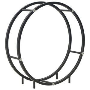 Suporte para lenha 70x20x70 cm aço preto - PORTES GRÁTIS