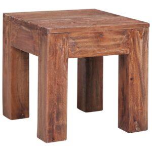 Mesa de centro 30x30x30 cm madeira recuperada maciça - PORTES GRÁTIS