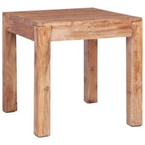 Mesa de centro 53x50x50 cm madeira recuperada maciça - PORTES GRÁTIS