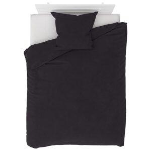 2 pcs conjunto capa de edredão lã 155x200/80x80 cm antracite - PORTES GRÁTIS