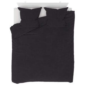 3 pcs conjunto capa de edredão lã 200x220/80x80 cm antracite - PORTES GRÁTIS