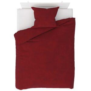 2 pcs conjunto capa edredão lã 140x220/60x70 cm vermelho tinto - PORTES GRÁTIS