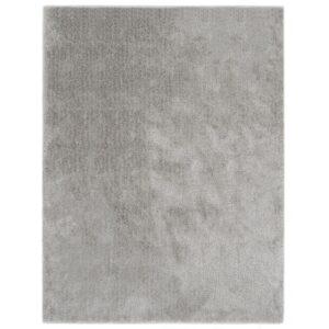 Tapete de divisão shaggy 80x150 cm cinzento - PORTES GRÁTIS