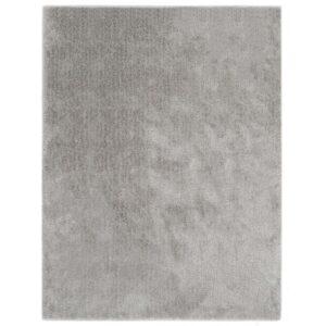 Tapete de divisão shaggy 160x230 cm cinzento - PORTES GRÁTIS