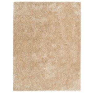 Tapete de divisão shaggy 120x160 cm bege - PORTES GRÁTIS