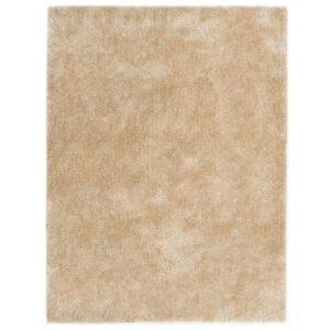 Tapete de divisão shaggy 160x230 cm bege - PORTES GRÁTIS