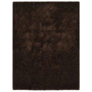 Tapete de divisão shaggy 160x230 cm castanho - PORTES GRÁTIS