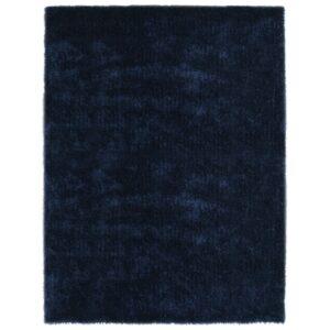 Tapete de divisão shaggy 160x230 cm azul - PORTES GRÁTIS