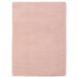 Tapete em pele de coelho artificial 140x200 cm rosa velho - PORTES GRÁTIS