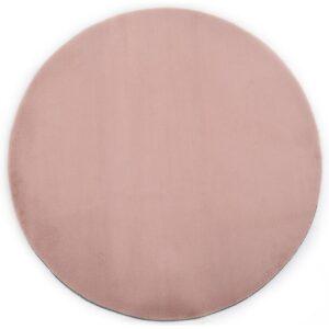 Tapete em pele de coelho artificial 80 cm rosa velho - PORTES GRÁTIS