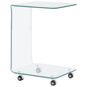 Mesa de centro 45x40x63 cm vidro temperado - PORTES GRÁTIS