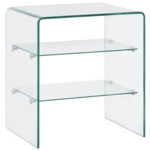 Mesa de centro 50x40x56 cm vidro temperado  - PORTES GRÁTIS